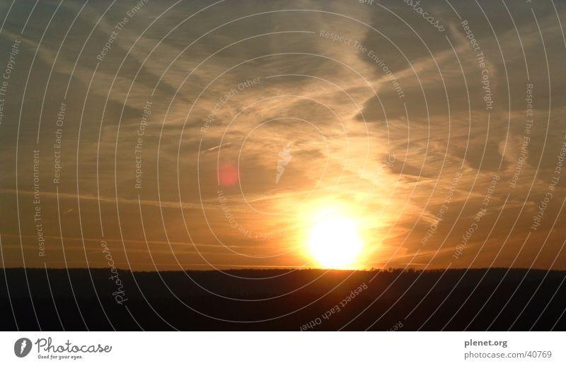 torn sky Clouds Vapor trail Sunset Dark Twilight Broken Sunglasses Evening Sky