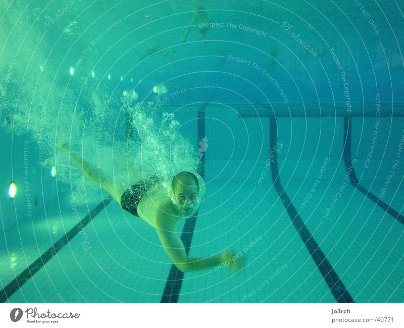 Man Water Sports Swimming pool Leisure and hobbies Dive Blow Breath