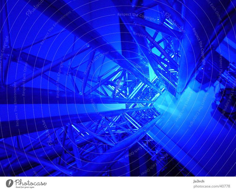 Blue Lighting Architecture Technology Concert Event