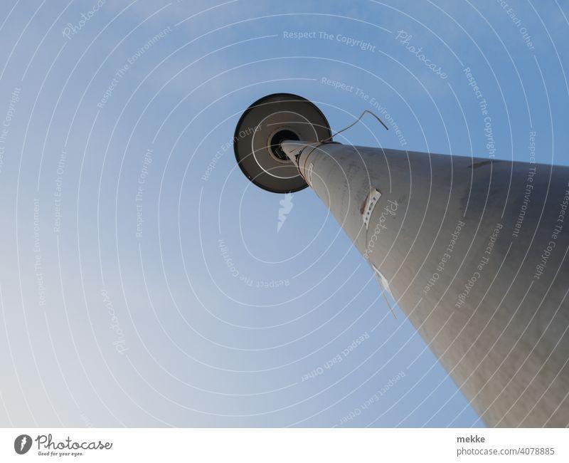 A streetlight imitates the Berlin television tower Lantern Lamp post streetlamp street lamp Television tower Berlin TV Tower Sky Town Capital city Exterior shot