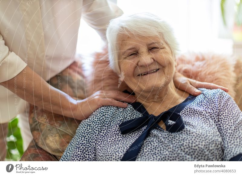 Senior woman spending quality time with her daughter smiling happy enjoying positivity vitality confidence people senior mature casual female Caucasian elderly