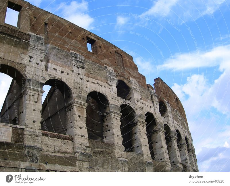 Sky Wall (barrier) Europe Ruin Rome Arch Colosseum