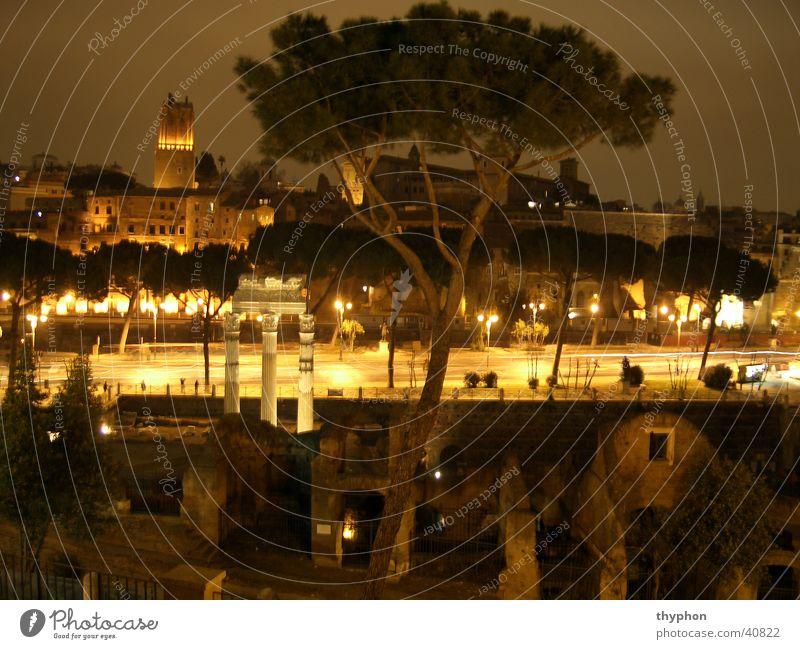 Forum Romanum at night Forum Romano Night Rome Long exposure Italy Europe Column
