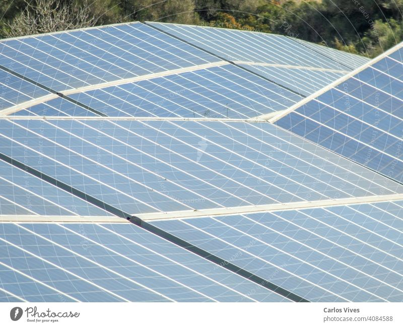 Solar power station against the blue sky. Alternative energy concept solar panel cloud environment eco ecology electricity electronic device engineering field