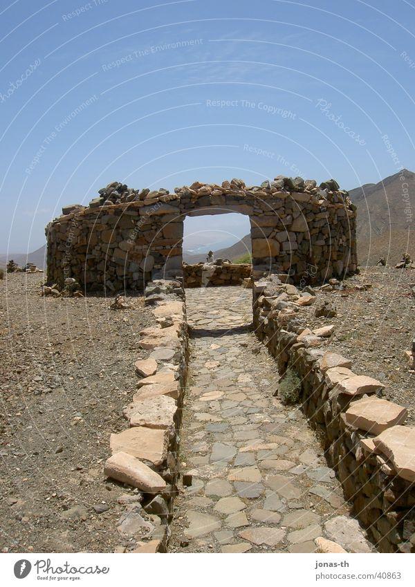 Nature Summer Vacation & Travel Mountain Landscape Architecture Fuerteventura
