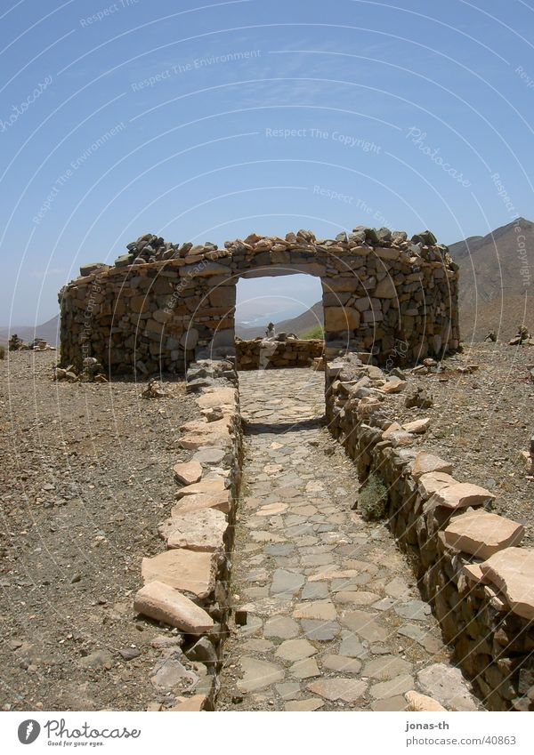 The gate to heaven Fuerteventura Vacation & Travel Summer Architecture stone buildings Landscape Nature Mountain