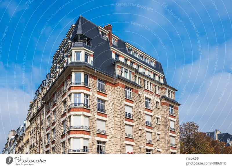View of historic buildings in Paris, France Building Architecture Town Tourist Attraction voyage vacation destination Historic Old Sky Clouds Blue