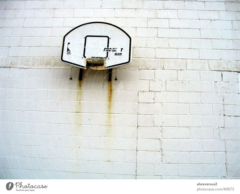 Wall (building) Rust Basket Basketball Ghetto