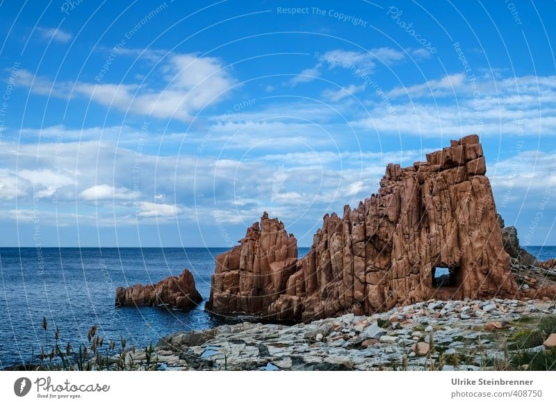 You seek the sea Vacation & Travel Tourism Ocean Island Environment Nature Landscape Water Sky Clouds Spring Beautiful weather Rock Coast Mediterranean sea