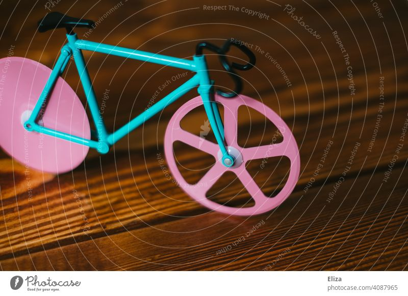 Colorful bike. Bicycle Cycling Hipster model Miniature pink Turquoise Racing cycle variegated