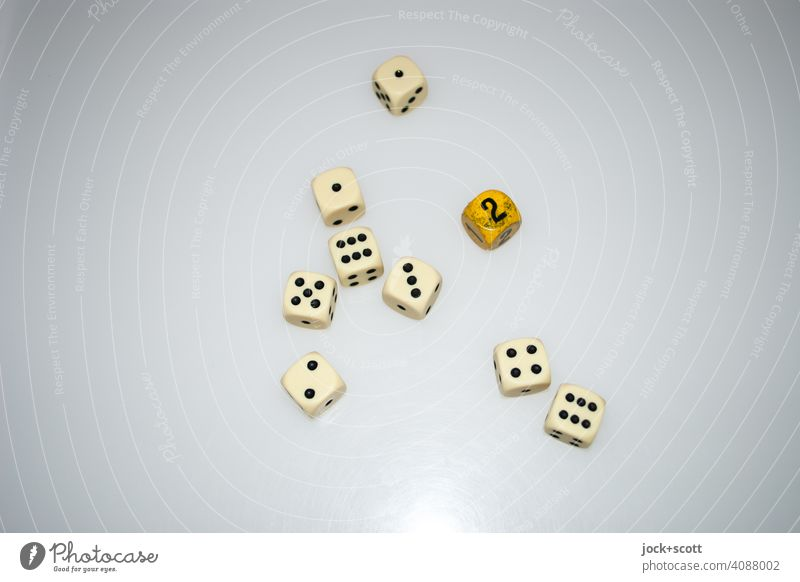 9 dice with the result 30 Throw dice cubes Digits and numbers Game of chance game 6 pages total Side by side Leisure and hobbies points reflection