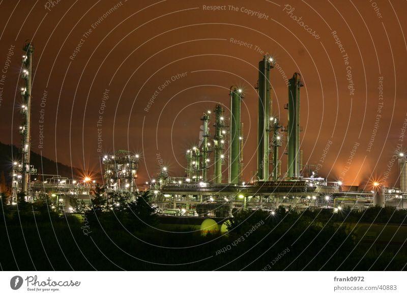 Chemistry at night Long exposure Night Red sky Lighting Industry DRI Tower Moers Sasol