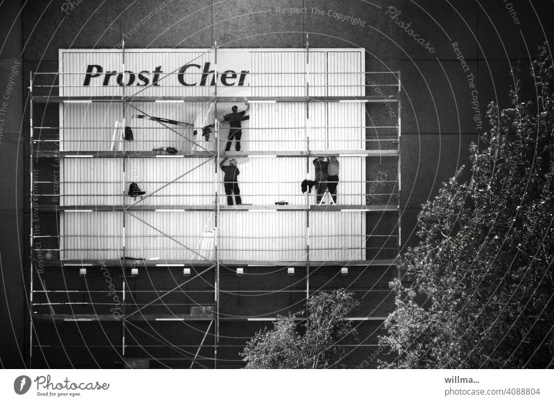 Cheers, Cher | First Names Poster Scaffolding Billboard sticker house wall Placard Advertising people men