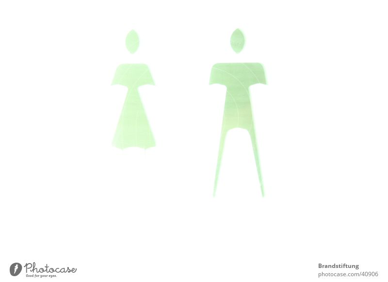 Woman Man Signs and labeling Open Toilet Reaction Pictogram Overexposure