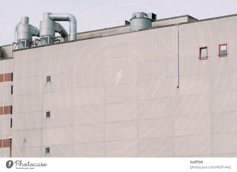 drab exterior facade of an industrial plant Warehouse Harbour Storage Facade Depot Wall (building) Industrial plant Factory Architecture Trade