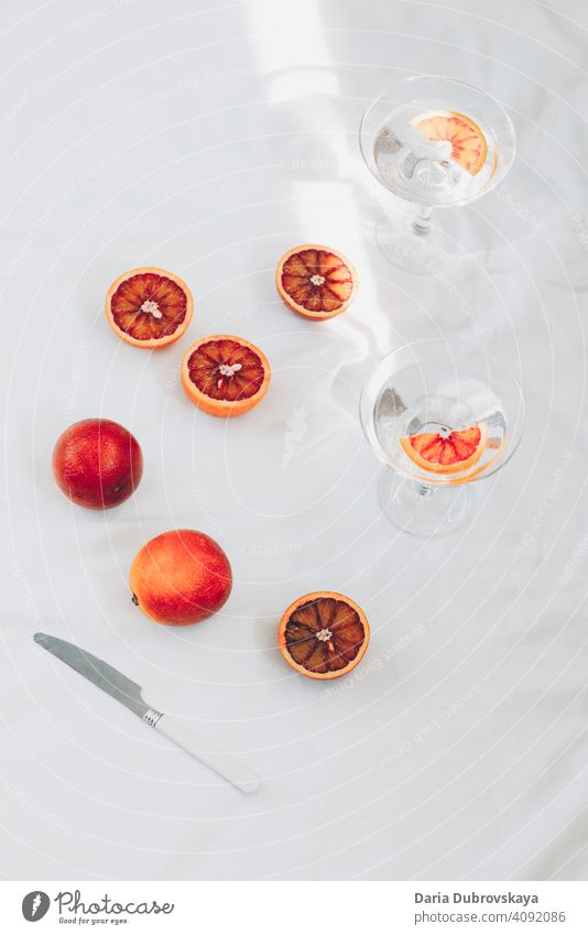 red oranges. minimal still life fresh healthy tropical juice exotic summer concept fruit style background freshness summertime sweet juicy refreshing citrus