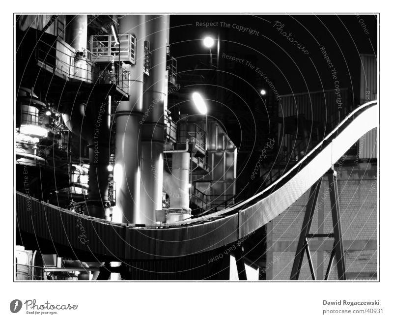 industrial culture Environment Visual spectacle Factory Diagonal Steel Production Industry Silver Black & white photo Technology lime works Work of art Metal