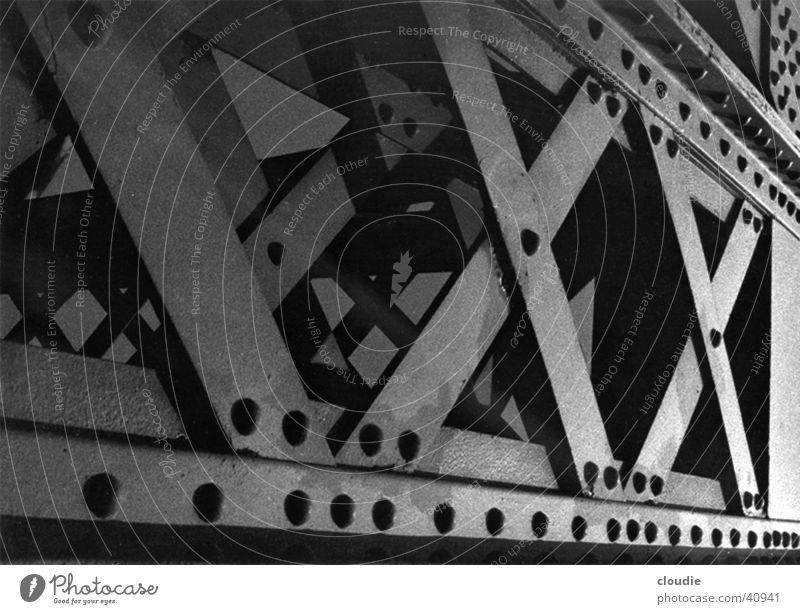 heavy metal Steel Carrier Solid Stability Industry Bridge Rivet Detail Railroad Intersection Back