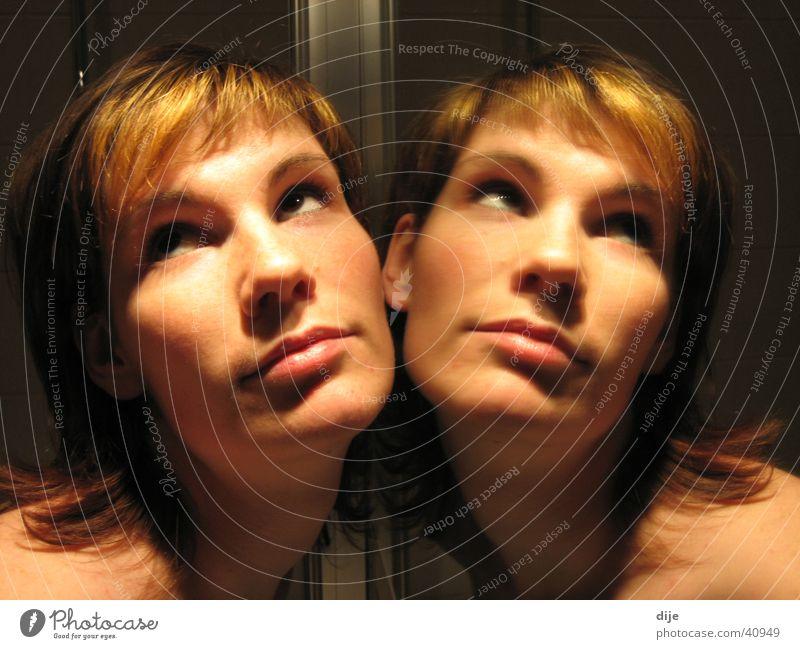Woman Face Dark Feminine Bathroom Mirror Mirror image