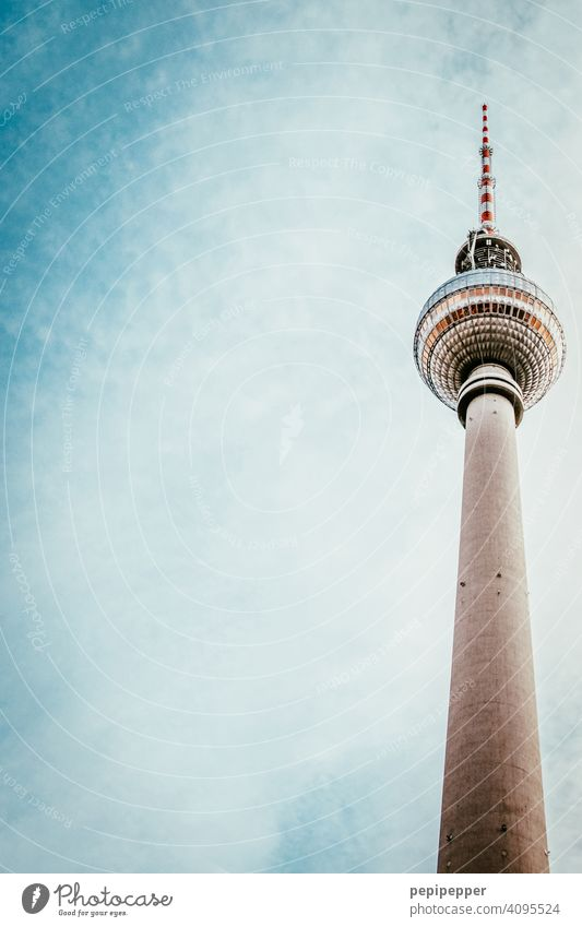 Berlin Television Tower Berlin TV Tower Alexanderplatz Television tower Landmark Sky Capital city Architecture Tourist Attraction Downtown Downtown Berlin Town