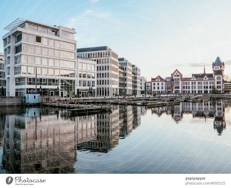 Office building and Hörder Burg, Dortmund Phoenixsee Lake Phoenix Office work Lakeside Tourist Attraction Relaxation labour Work and employment work office