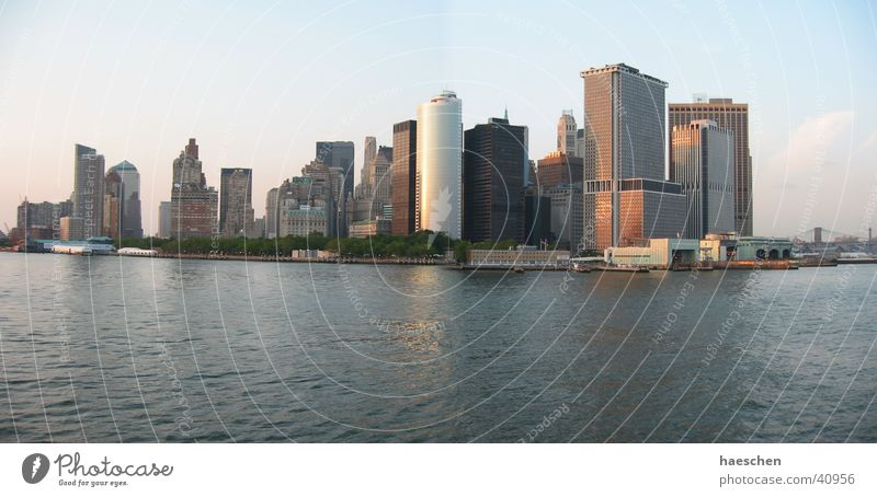 Large High-rise New York City Skyline Manhattan Panorama (Format) North America
