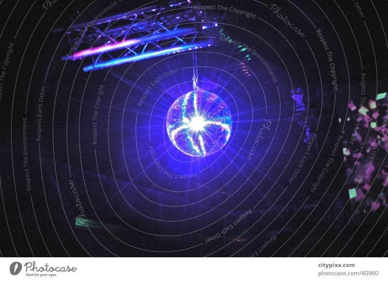disco ball Disco Blue Light Party Disco ball Radiation Club Lighting lights Reflection Sphere Reaction Beam of light