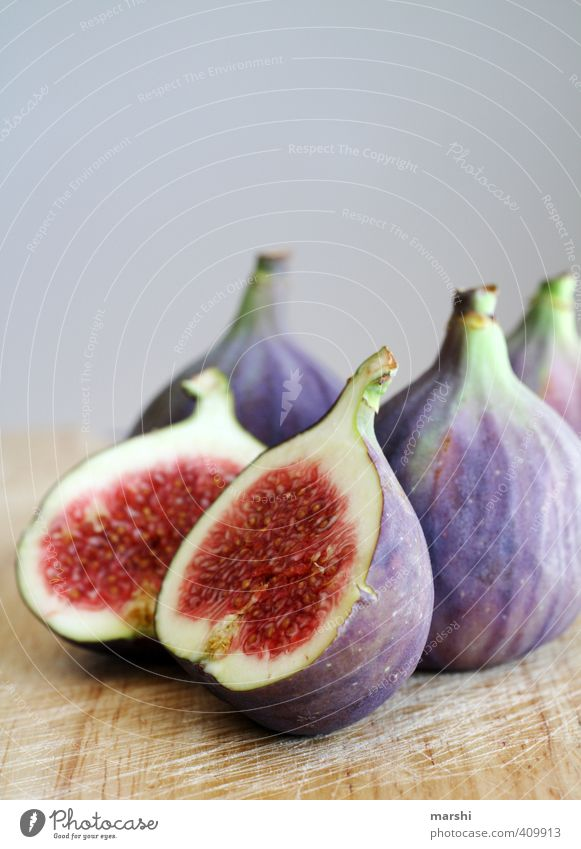 juicy figs Food Fruit Nutrition Eating Organic produce Violet Fig Juicy Fruity Delicious Tasty Colour photo Interior shot Detail Day