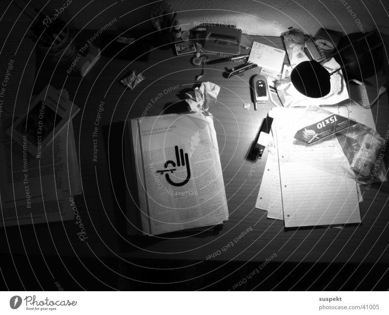 workplace Style Workplace Dark Photographic technology Black & white photo mushy