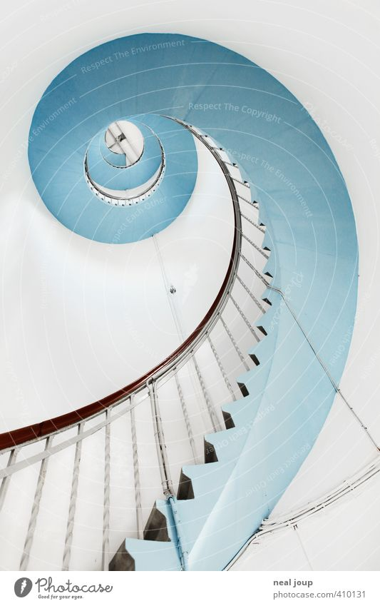 Spiral-O-Mat Winding staircase seafaring Denmark Deserted Lighthouse Building Architecture Stairs Tourist Attraction Line Esthetic Bright Positive Beautiful