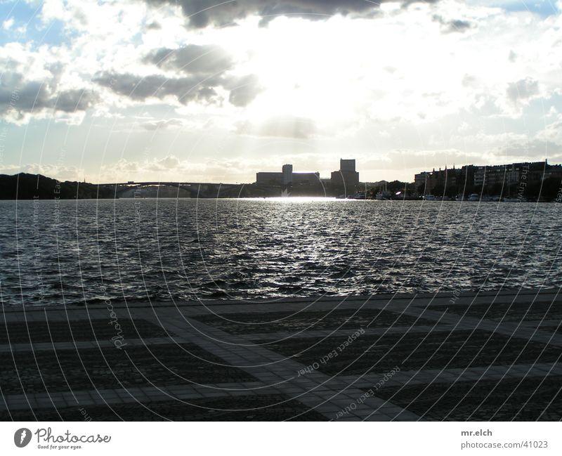 cloud play Stockholm Town Rain Light Deities Venice Loneliness Places Europe Skyline Water Sun leaden God Beam of light