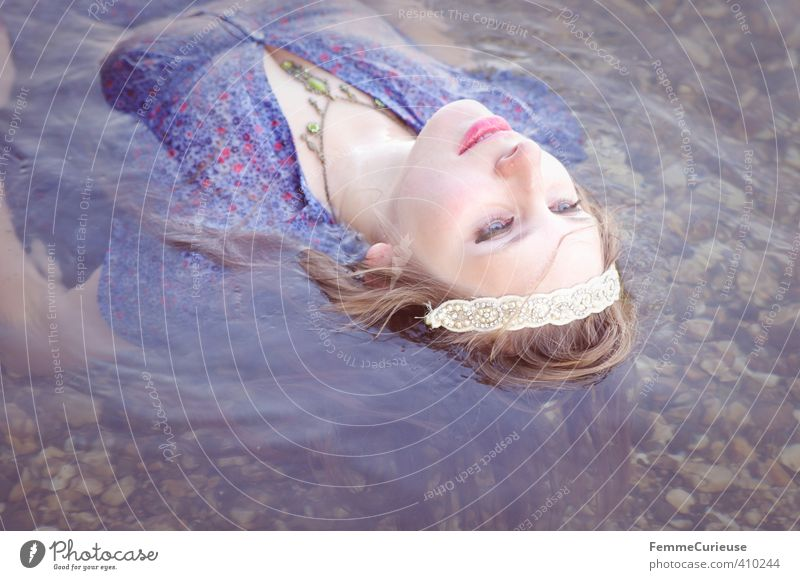 Water elf (VIII) Beautiful Wellness Life Well-being Senses Relaxation Meditation Feminine Girl Young woman Youth (Young adults) Woman Adults 1 Human being