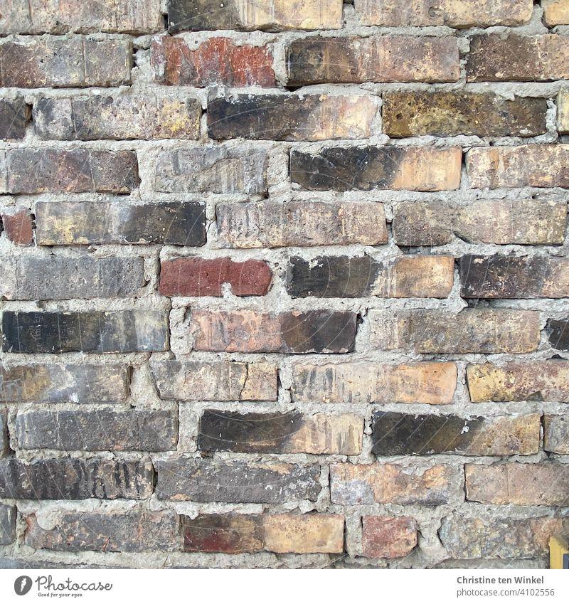 Old brick wall Brick Brick wall Wall (building) Clinker bricks Facade Wall (barrier) stones Ancient Structures and shapes Exterior shot Brick facade Pattern
