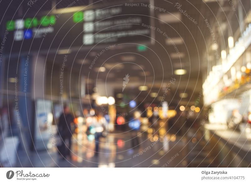 Blurred people in airport. blur background silhouette travel interior transportation building journey terminal crowd passenger departure urban entrance hall