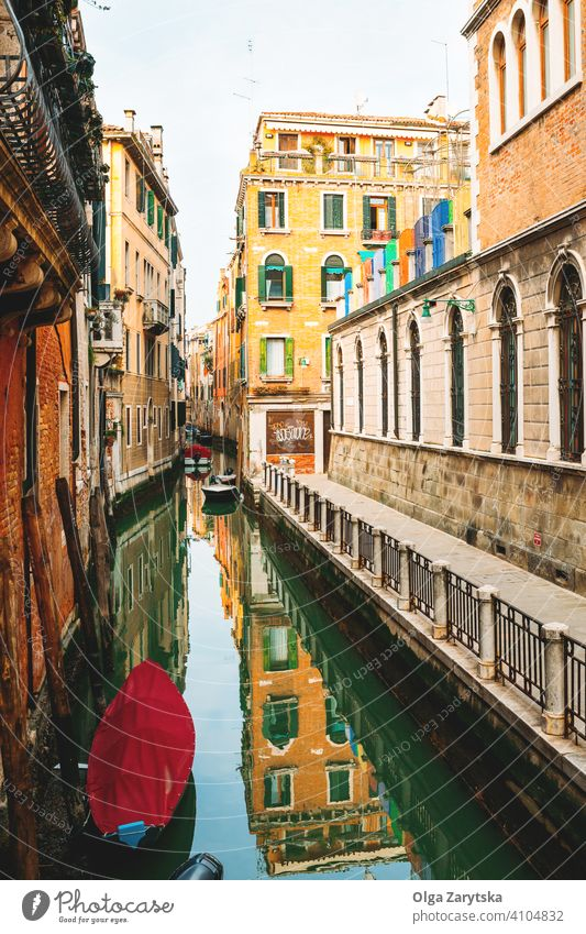 View on channel in Venice. italy venice canal background abstract water attraction card city cityscape europe european famous italian landscape romantic tourism