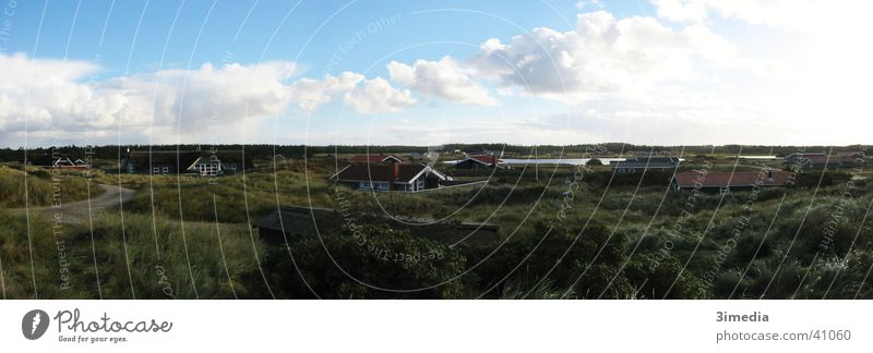 Clouds Far-off places Landscape Large Level Panorama (Format) Denmark