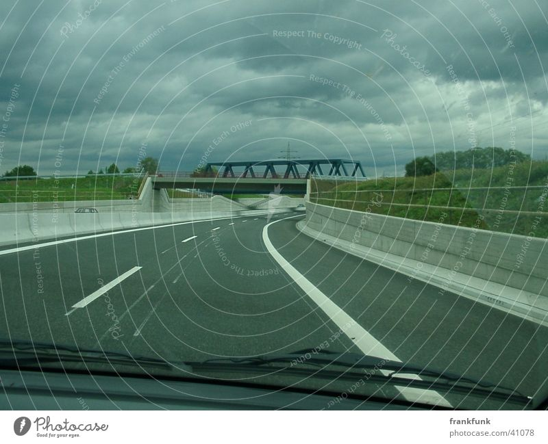 B30 and cloudy Federal highway Windscreen Clouds Transport Bridge
