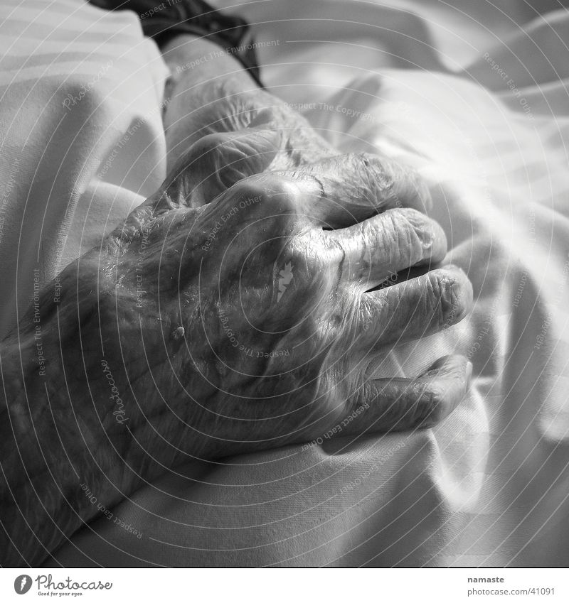 Woman Human being Hand Old Sensitive Vulnerable
