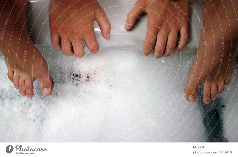 Human being Beautiful Water Hand Swimming & Bathing Feet Dirty Skin Wet Bathtub Cleaning Bathroom Personal hygiene Wash Foam