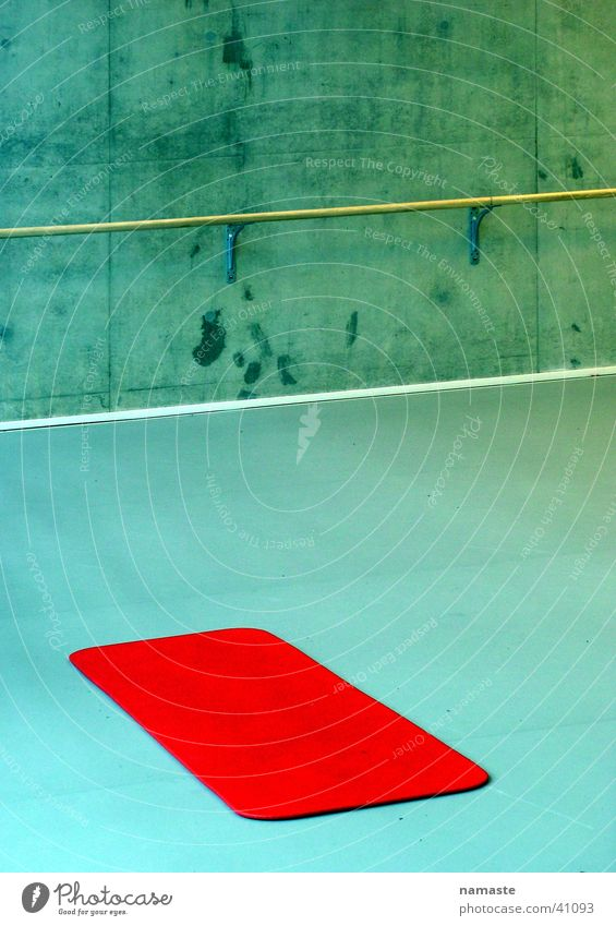 Red Sports Dance Art Concrete Pure Concentrate Turquoise Warehouse Netherlands Minimal Arts and crafts  Raw Demanding Floor mat Puristic