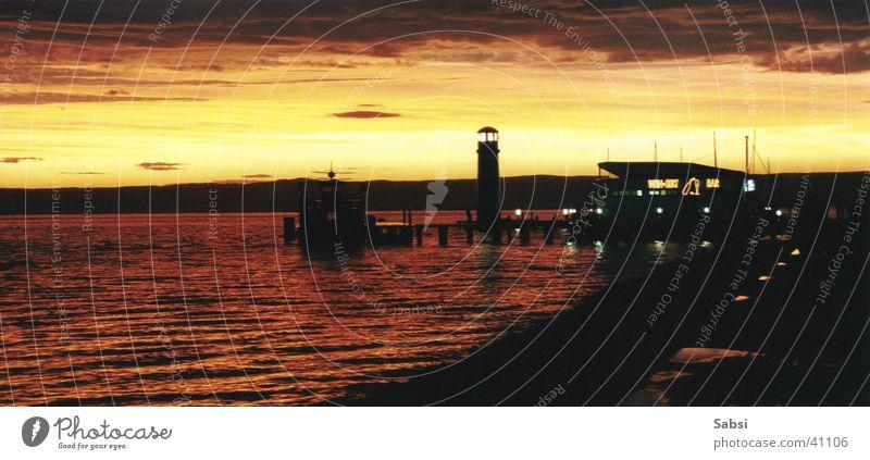 Lighthouse_01 Sunset Lake Night Water Evening Lamp