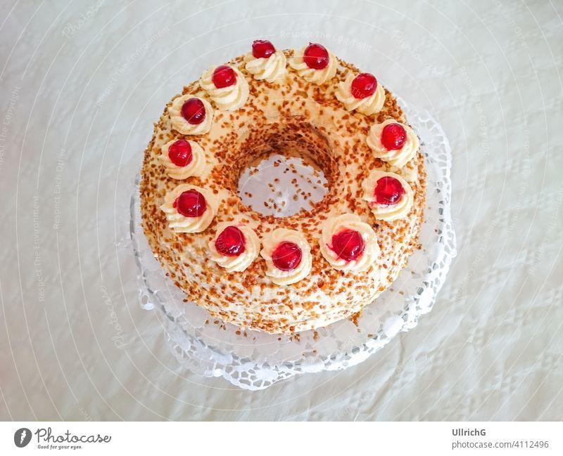 A whole Frankfurt Crown Cake Frankfurter Kranz Gnothimage baked bakery birthday birthday cake buttercream café celebration circle circular coffee and cake