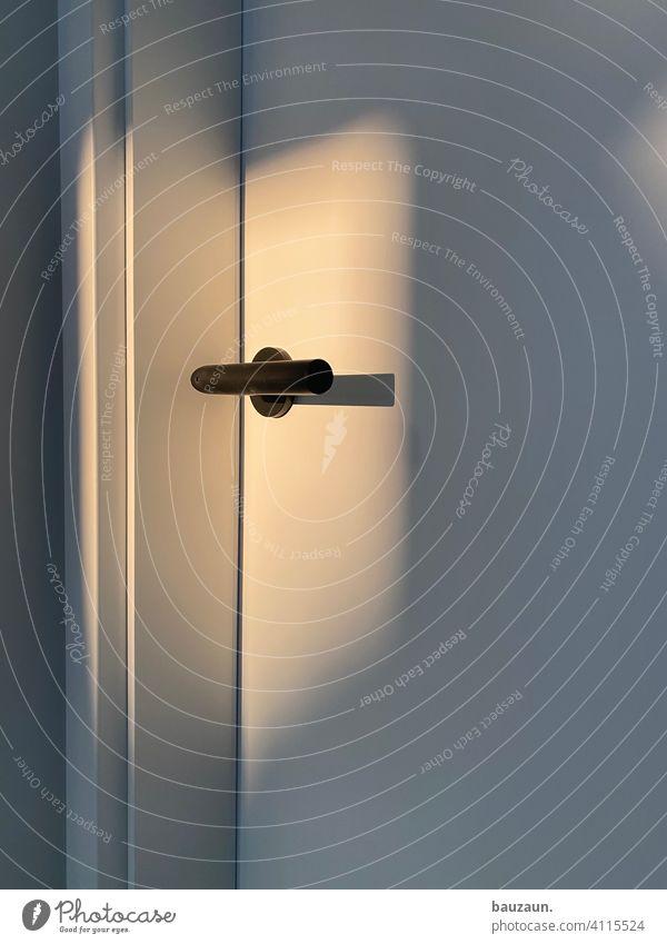 DOOR HANDLE. door door handle White Light Shadow Visual spectacle Evening sun Entrance Door handle Wooden door Deserted Lock Structures and shapes Detail Closed