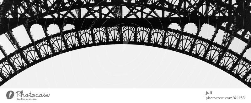 Arc_sw Paris Eiffel Tower Steel Architecture Handrail Black & white photo
