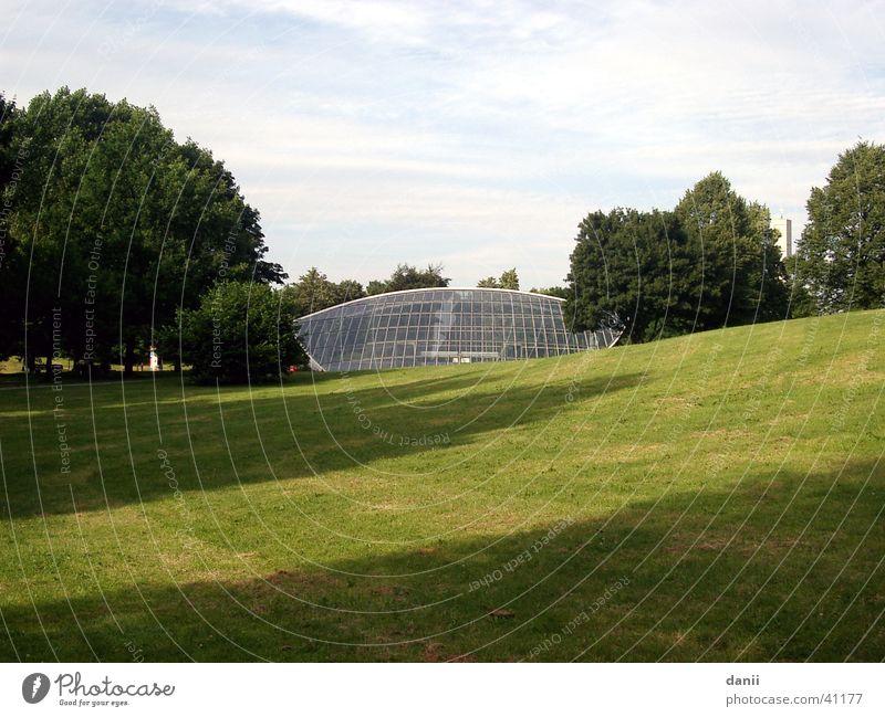 Green Meadow Architecture Glass Lawn Munich Station Underground