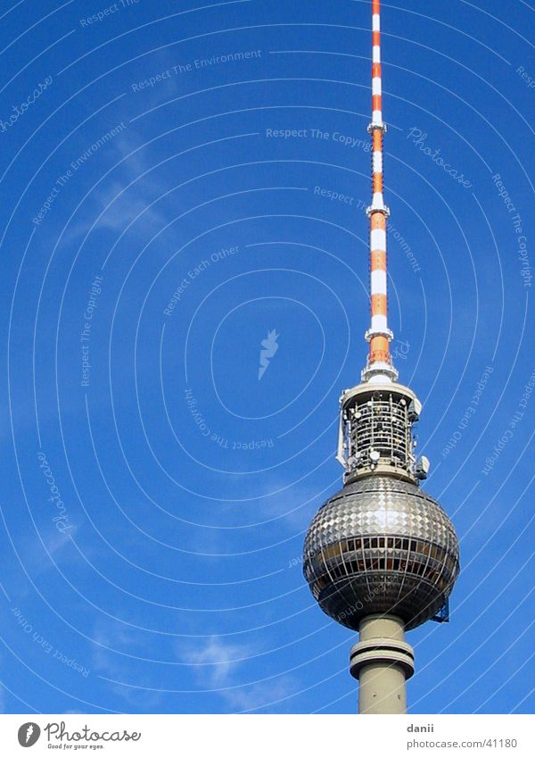 Sky Blue Berlin Architecture Berlin TV Tower Alexanderplatz