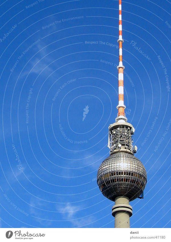 Sky Blue Berlin Architecture Berlin TV Tower Alexanderplatz