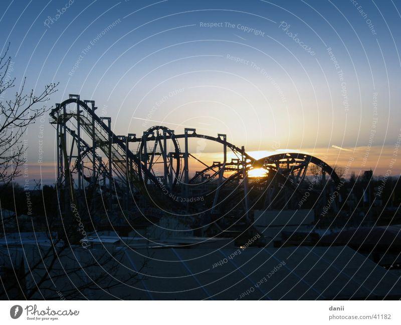 roller coaster Roller coaster Sunset Fairs & Carnivals Leisure and hobbies Sky Blue