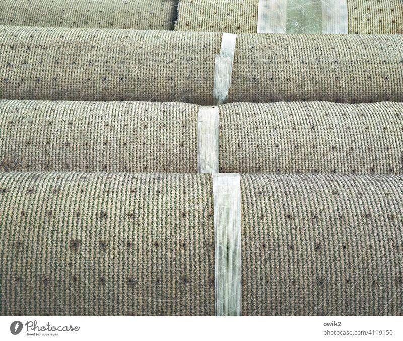 Aggregation Carpet shape Lie Heavy Gravity Stack Structures and shapes Colour photo Detail Exterior shot Deserted Pattern Close-up Carpet rolls Long shot
