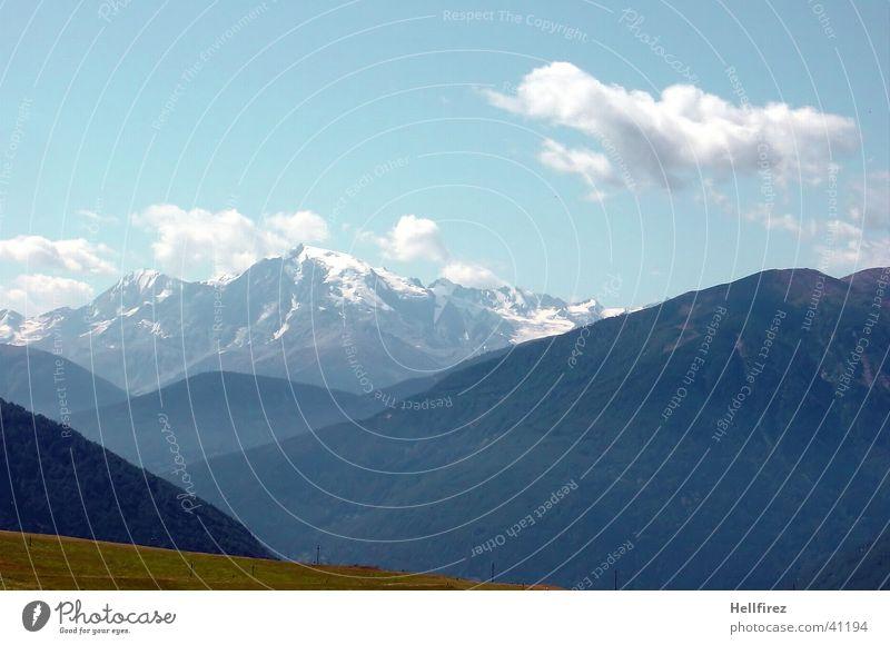 Good prospects Clouds Mountain Alps Blue sky Landscape Snow